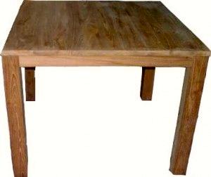 Teak Vierkante Eettafel.Eettafel Vierkant Met Blokpoten