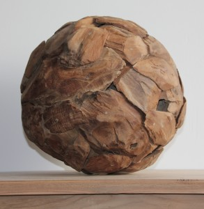 Decoratieve bol van drijfhout