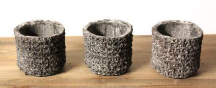 Waxinelichthouder cement
