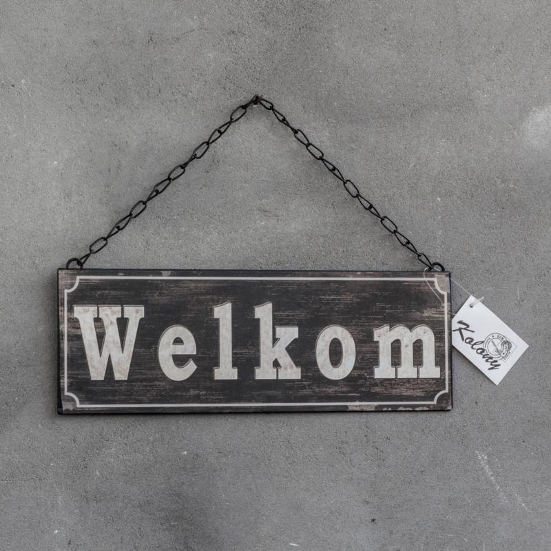 Tekstbordje Welkom