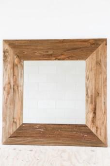 Spiegel vierkant teak