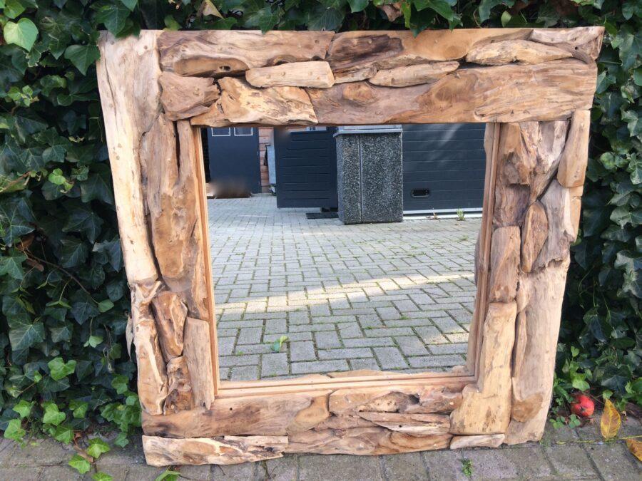 Spiegel drijfhout vierkant