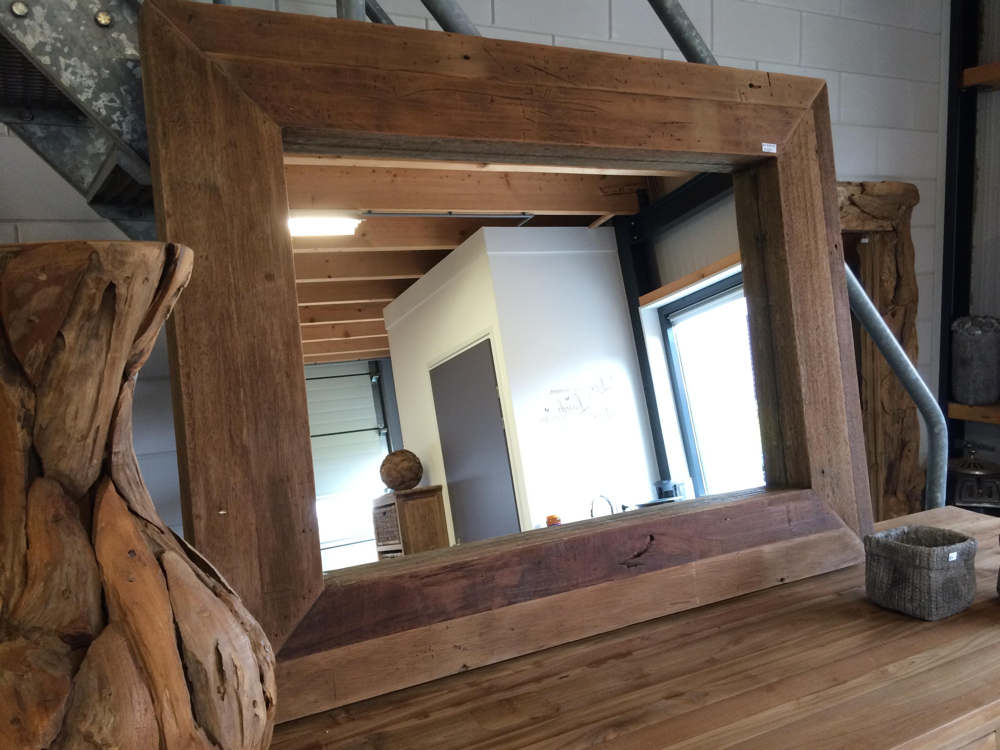 Grote Spiegel Hout : Genoeg spiegel met robuuste houten lijst tw u blessingbox