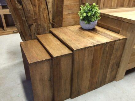 Bijzettafeltjes exotic wood