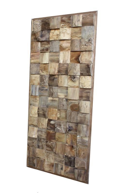 Wall deco teak polder teak - Deco hout ...