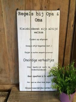Tekstbordje opa&oma