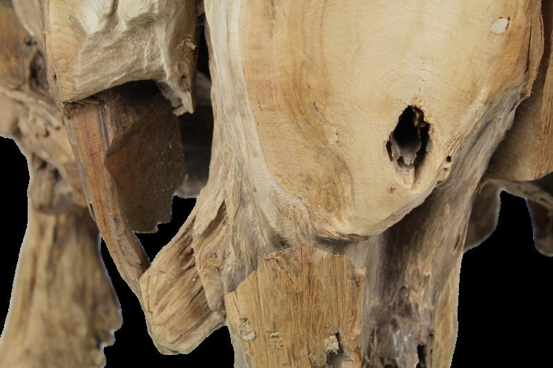 Root tafel glas polder teak - Badkamer natuur hout ...