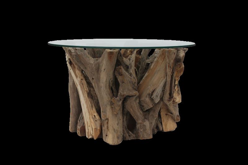 Root salontafel glas  Polder TEAK