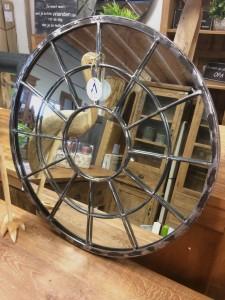 Industriële spiegel ø60 cm