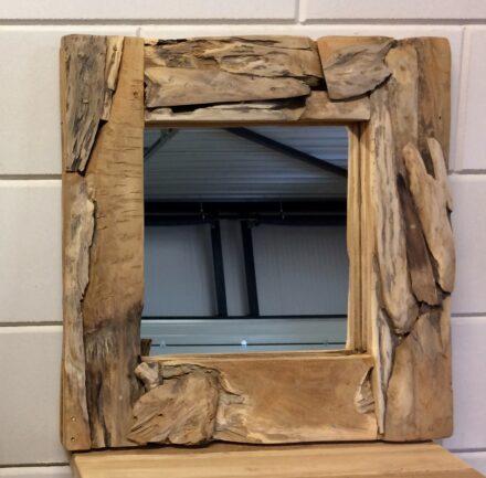 Spiegel drijfhout 50x50cm