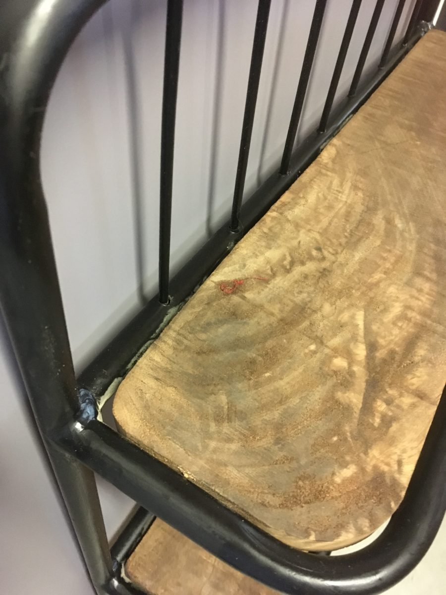Wandrek metaal hout