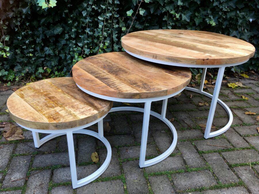 Set salontafels mangohout