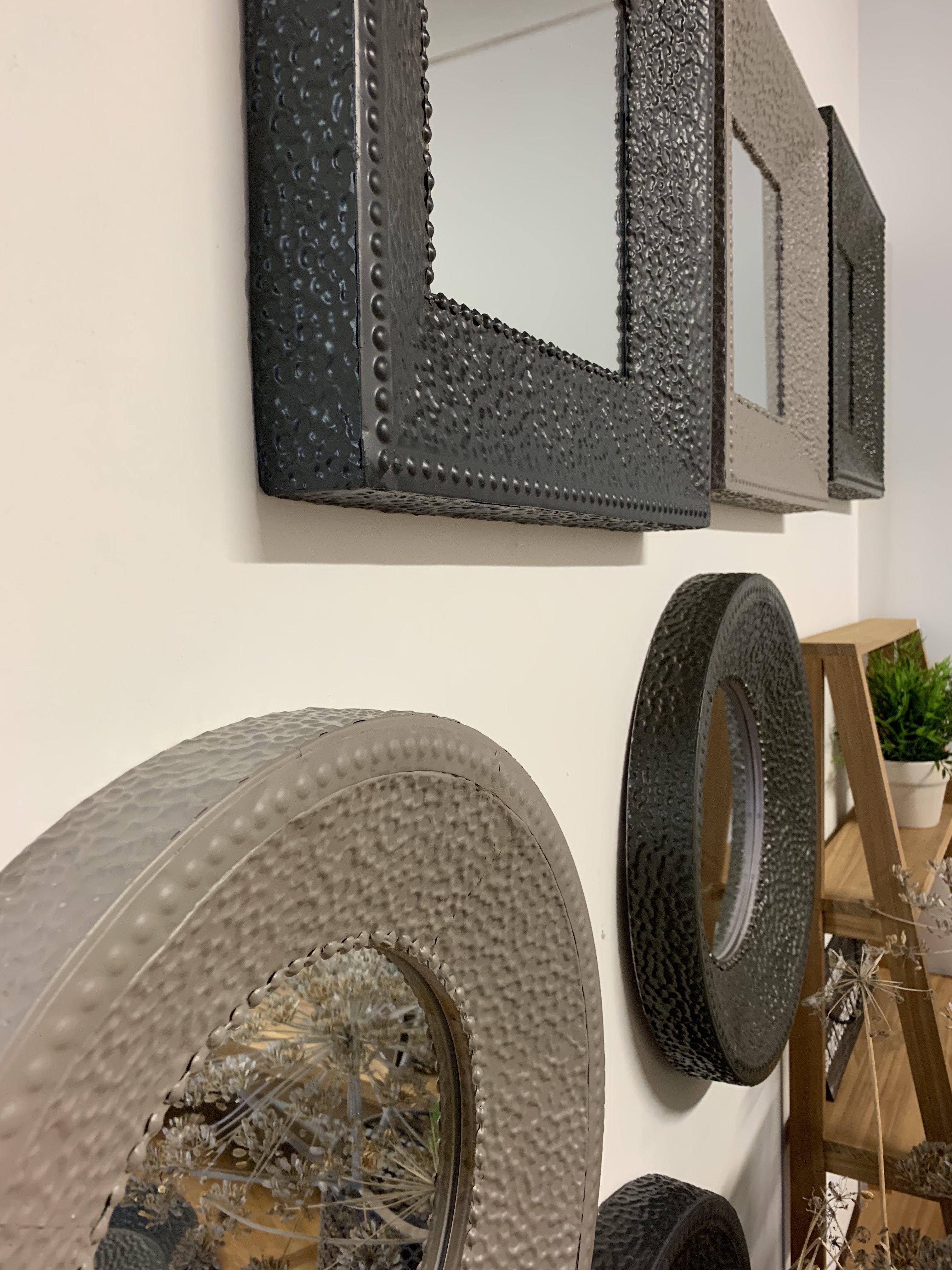 Stalen spiegels rond / vierkant