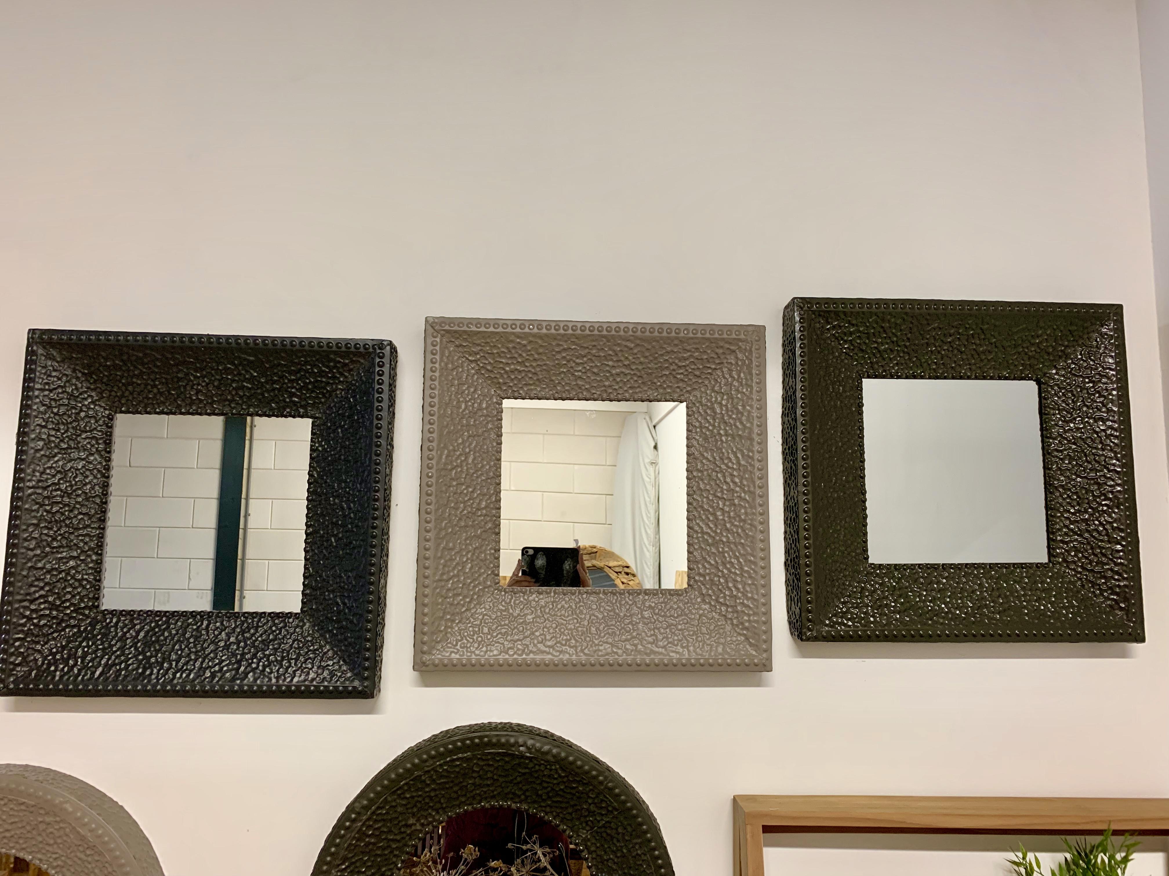 Stalen spiegels vierkant