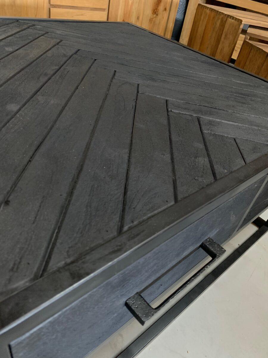 Salontafel visgraat zwart